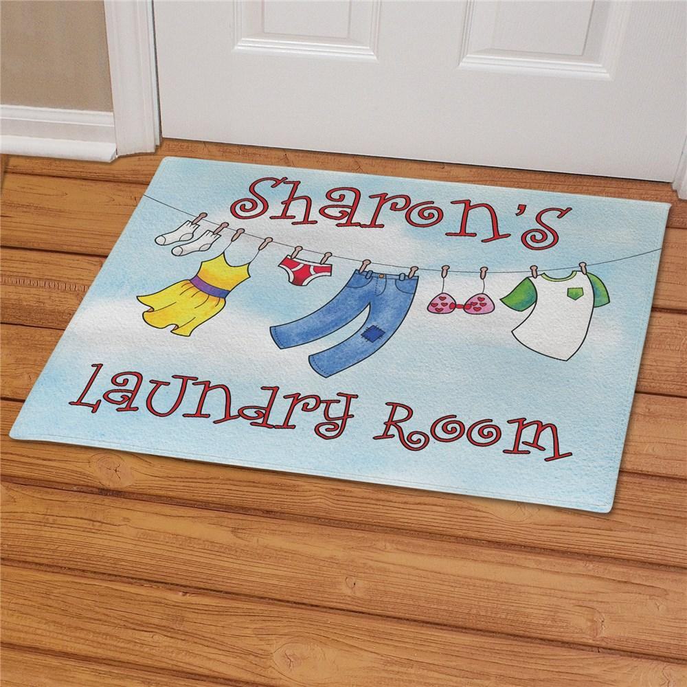 Personalized Laundry Room Doormat