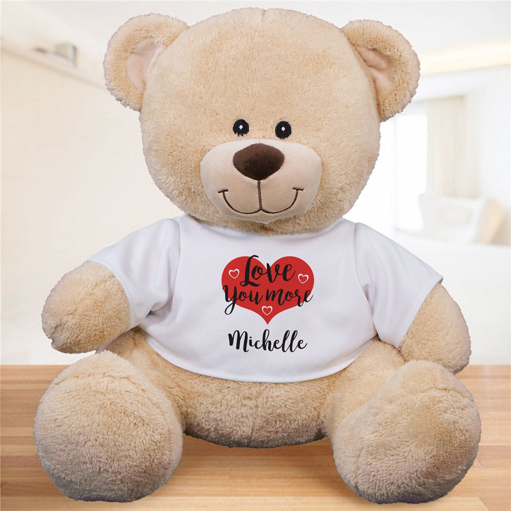 Personalized Love You More Sherman Bear - Valentine's Day Gift