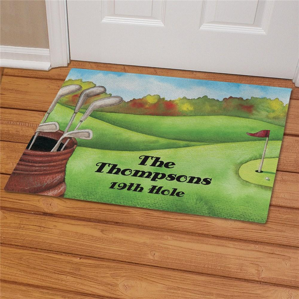 Personalized Golf Welcome Doormat
