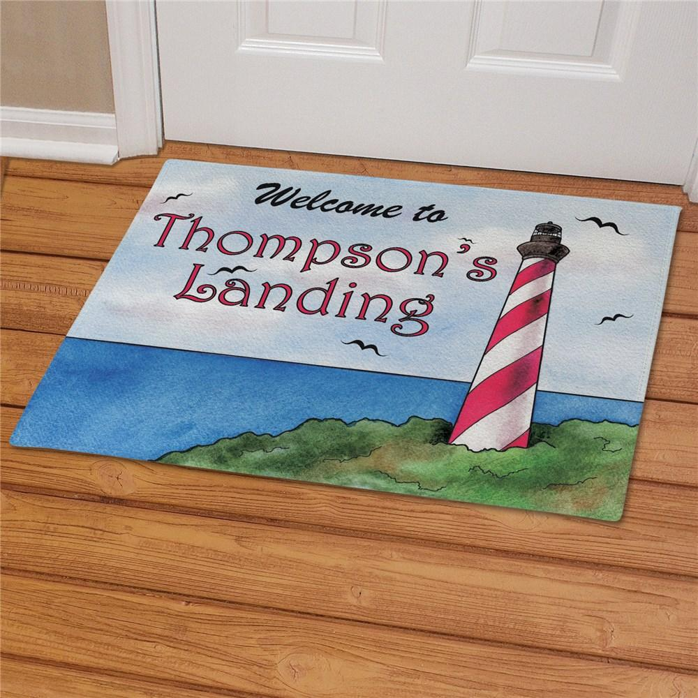 Personalized Lighthouse Doormat