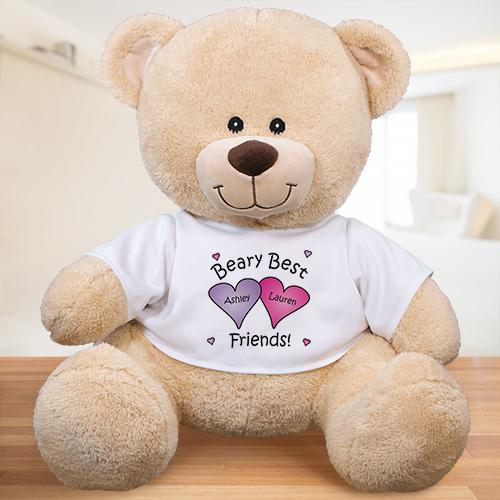 Personalized Beary Best Friends Teddy Bear - Valentine's Day Gift