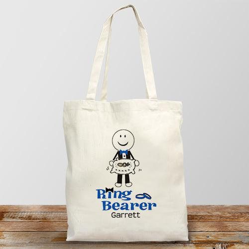 Personalized Ring Bearer Tote Bag