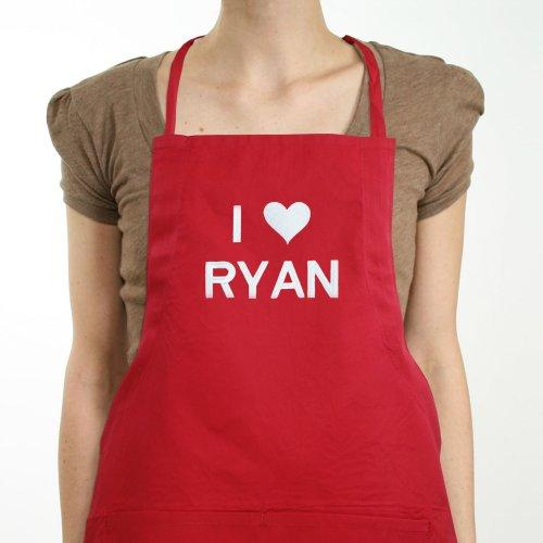 Personalized I Heart You Apron