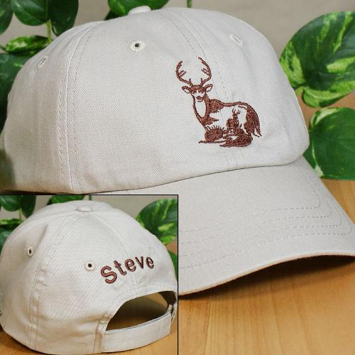 Personalized Deer White Hat