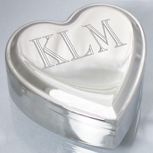 Personalized Single Name Heart Jewelry Box