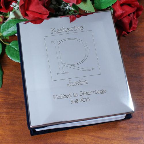 Personalized United In Marriage Silver Album