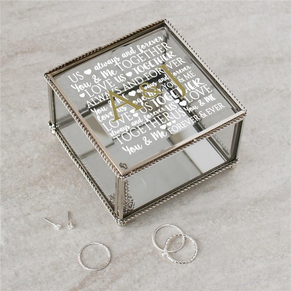 Personalized Word Art Jewelry Box
