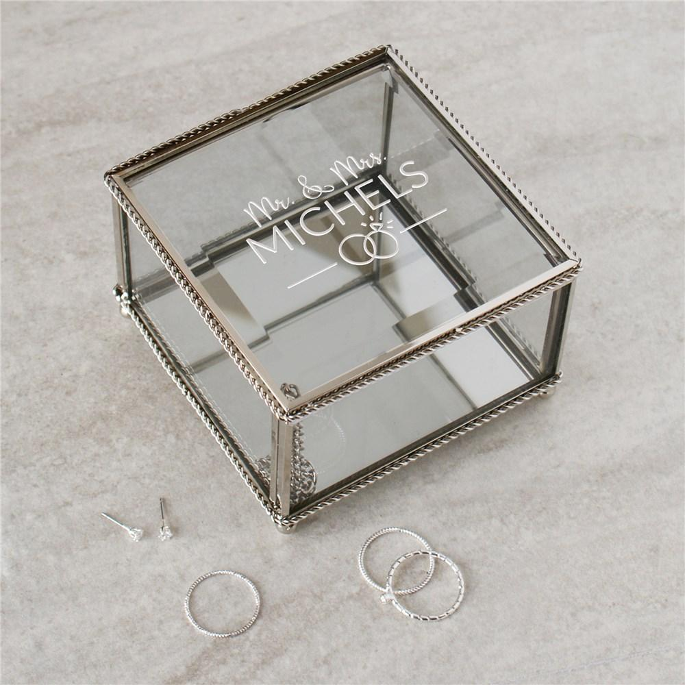 Personalized Mr. And Mrs. Jewelry Box