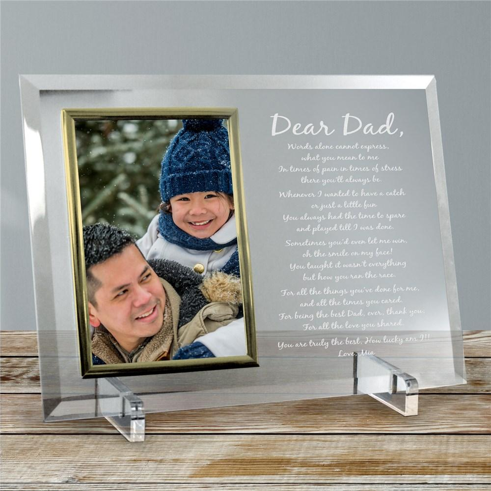 Personalized Engraved Poem Glass Frame