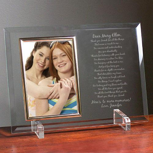 Personalized To My Friend... Beveled Glass Picture Frame