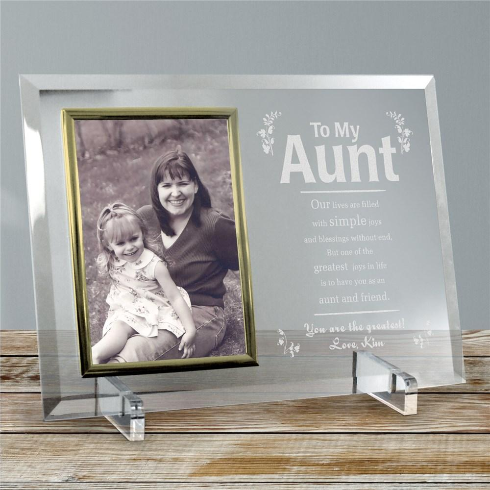 Personalized My Aunt Frame Beveled Glass