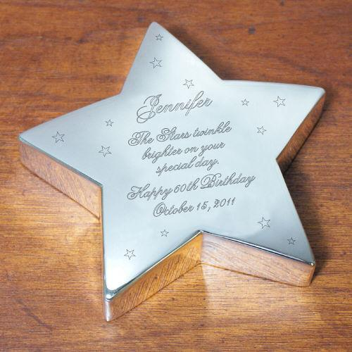 Personalized Happy Birthday Silver star