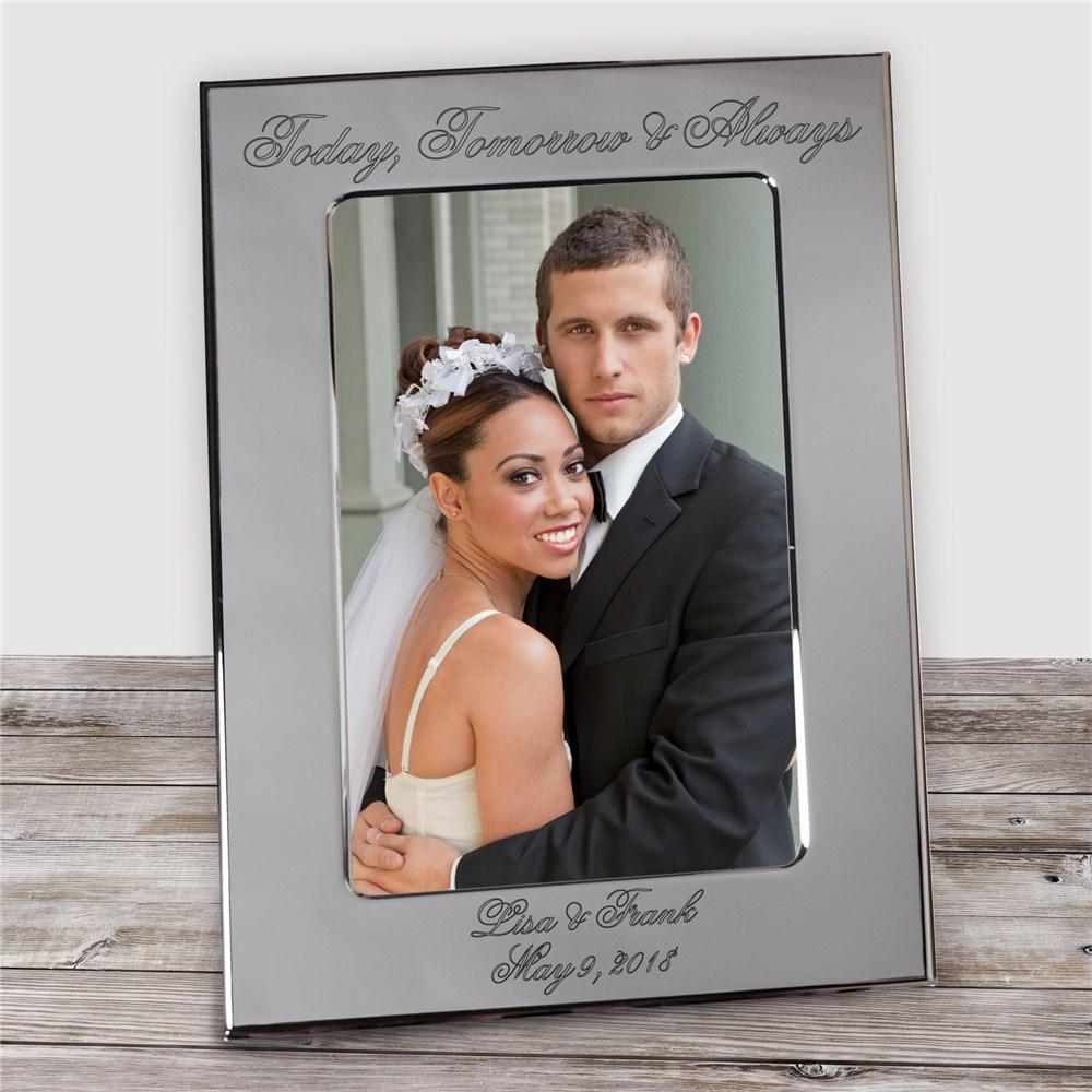 Personalized Engraved Today, Tomorrow & Always Wedding Silver Picture Frame