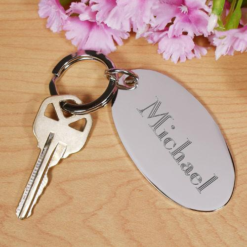 Personalized Name/Initial Silver Keychain