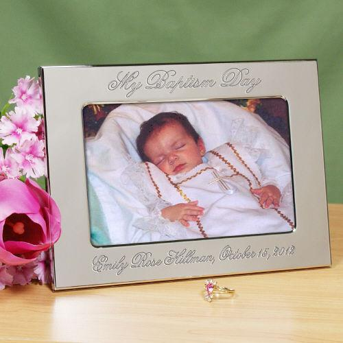 Personalized My Baptism Day Silver Picture Frame