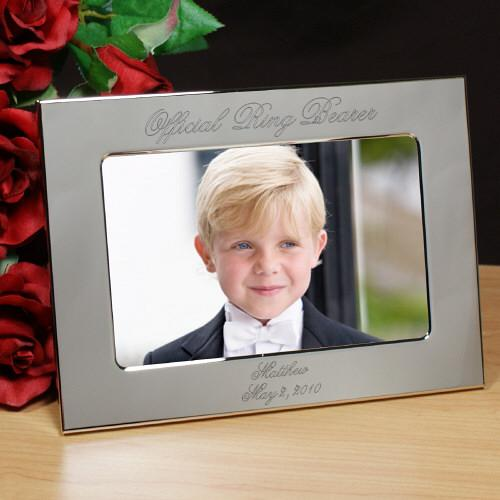 Personalized Ring Bearer Personalized Silver Picture Frame