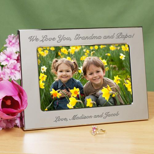 Personalized Any Message Silver Picture Frame