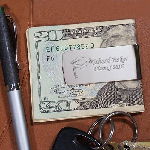 Personalized Engraved Class Of Graduation Silver Money Clip