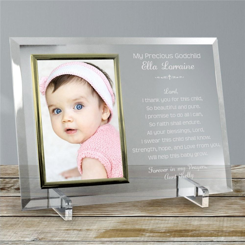 Personalized Godparent Poem Frame