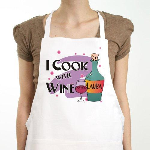Personalized Cook With Wine Apron
