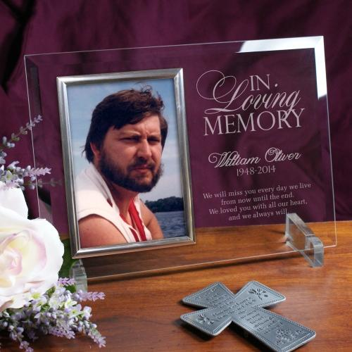 Personalized Engraved Memorial Glass Photo Frame