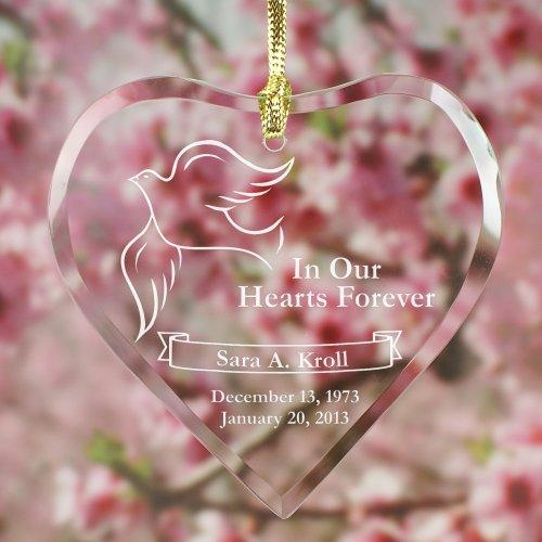 Personalized Engraved Memorial Heart Suncatcher