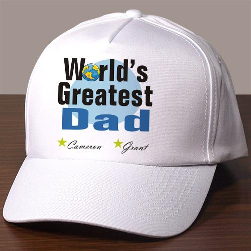 Personalized World's Greatest Dad Hat