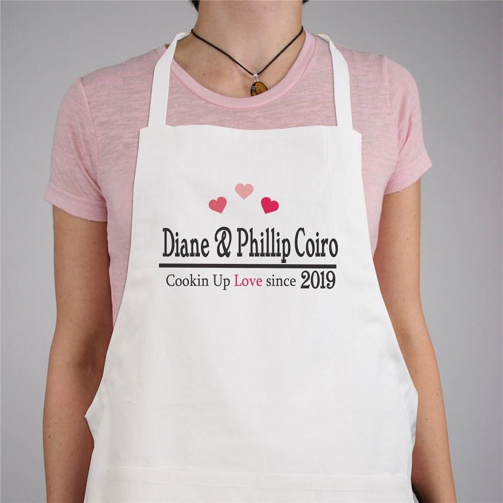 Personalized Cookin Up Love Apron - Valentine's Day Gift