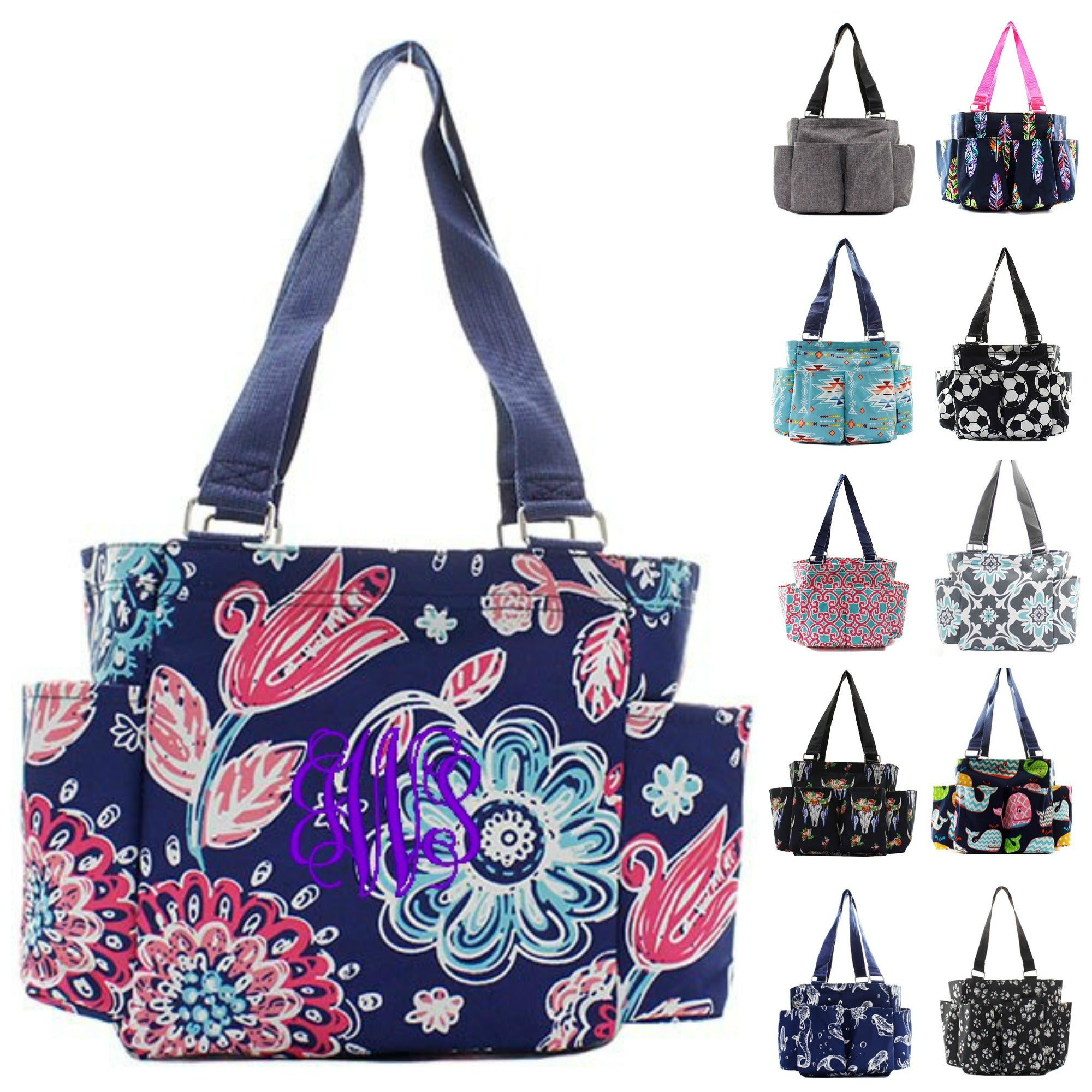 Personalized Caddy Organizing Tote Bag – Gifts Happen Here e91703fe4f8d7
