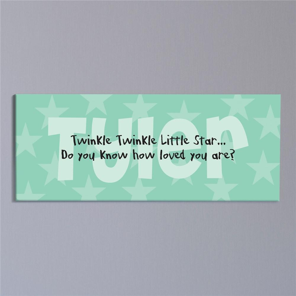 Personalized Twinkle Twinkle... Baby Wall Canvas