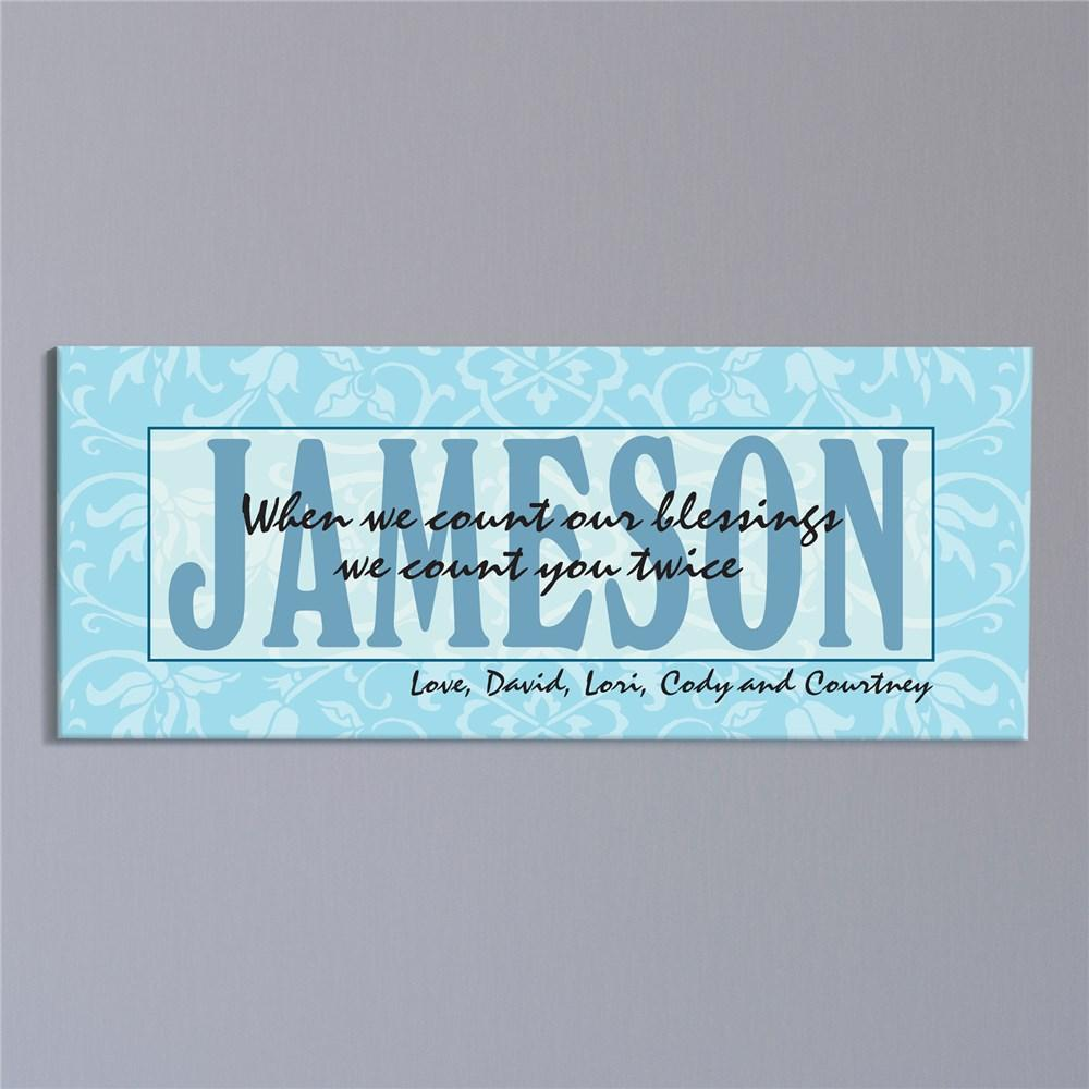 Personalized Counted Twice Canvas