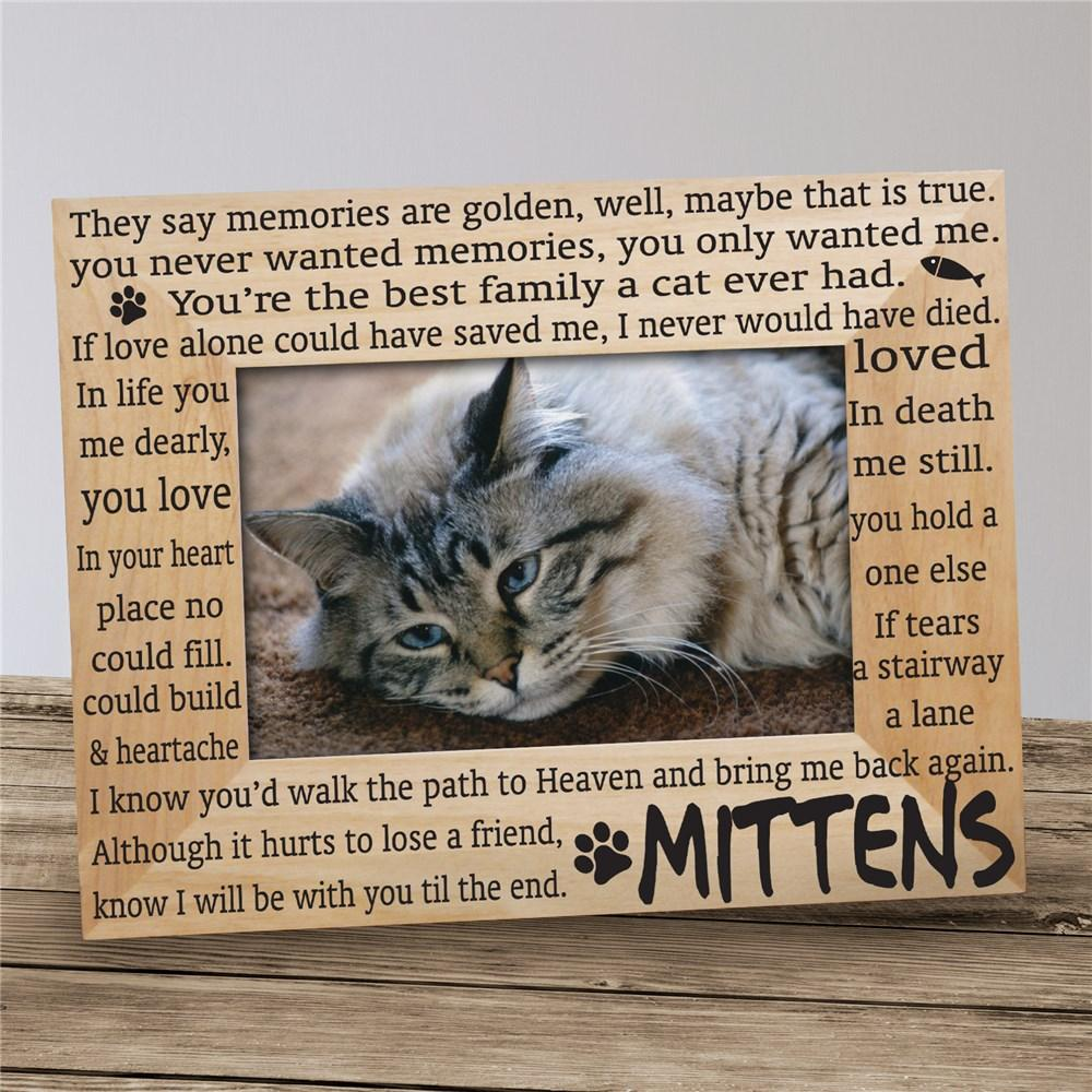 Personalized Cat Memorial Pet Frame