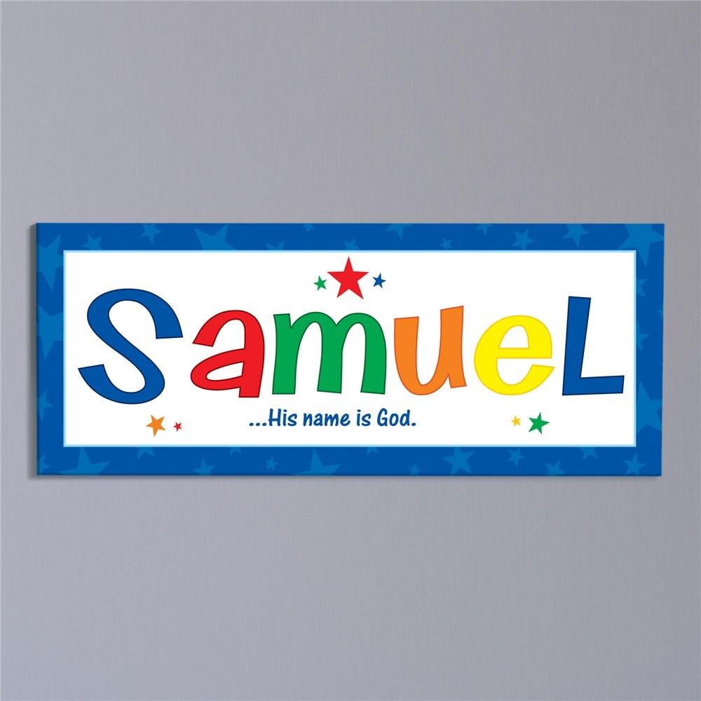 Personalized Name Meaning Wall Canvas