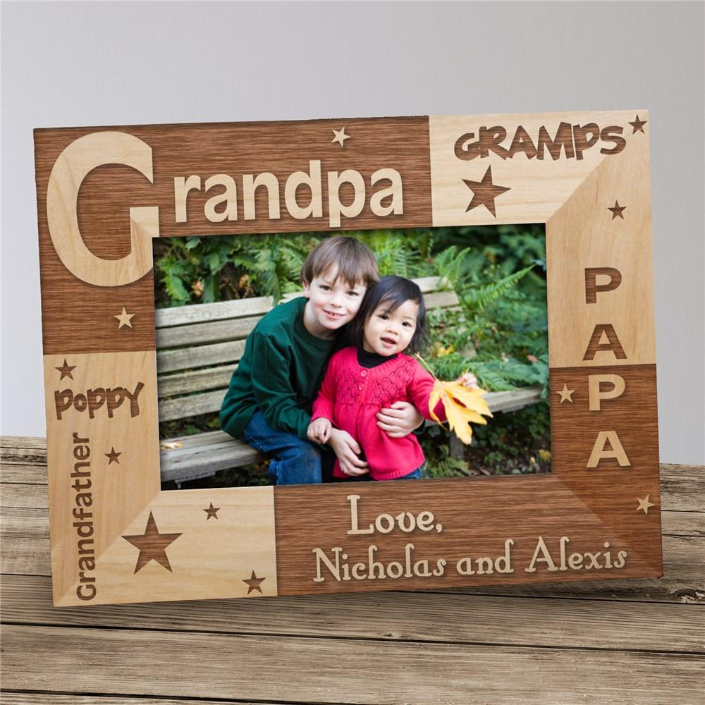 Personalized All About Grandpa Photo Frame