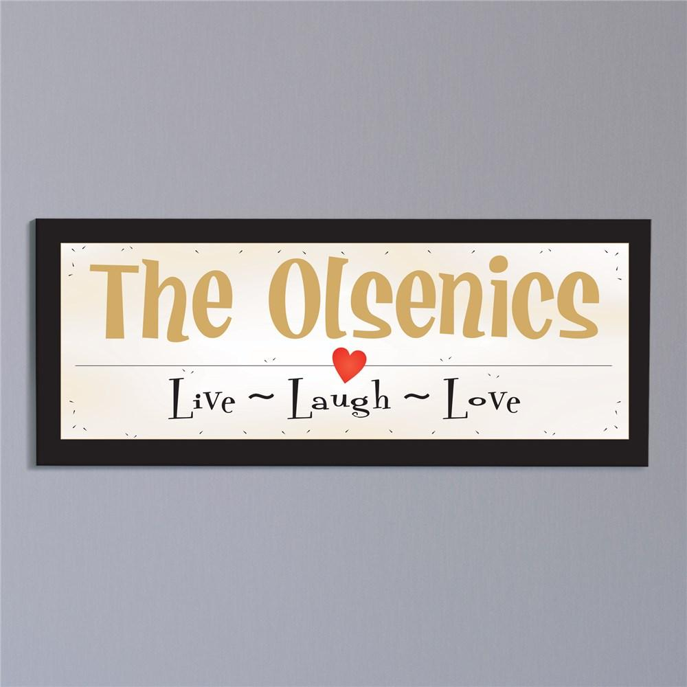 Personalized Live Laugh Love Wall Canvas