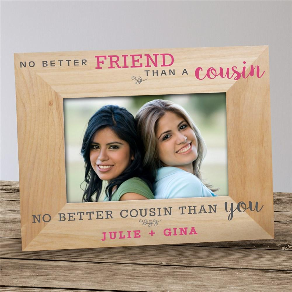 Personalized No Better Friend Wood Frame