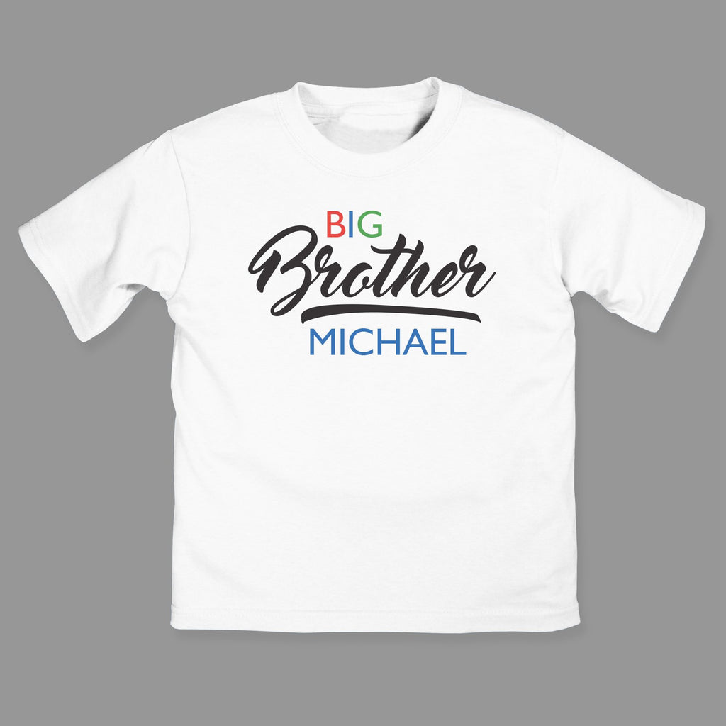 Personalized Big Brother/Big Sister Youth T-Shirt