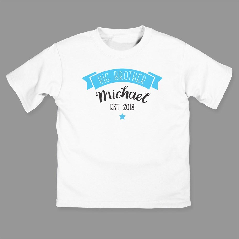 Personalized Big Brother Big Sister Youth T-Shirt
