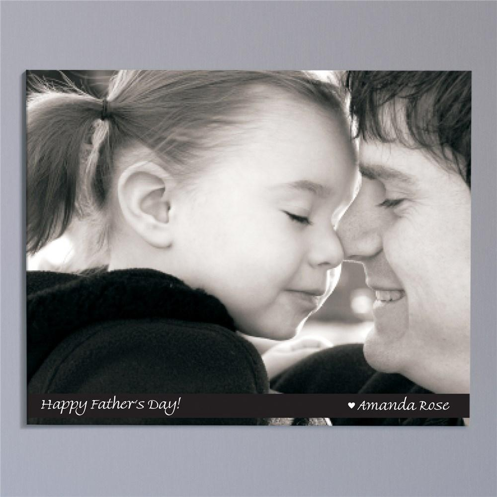 Personalized Picture Perfect Father's Day Photo Wall Canvas