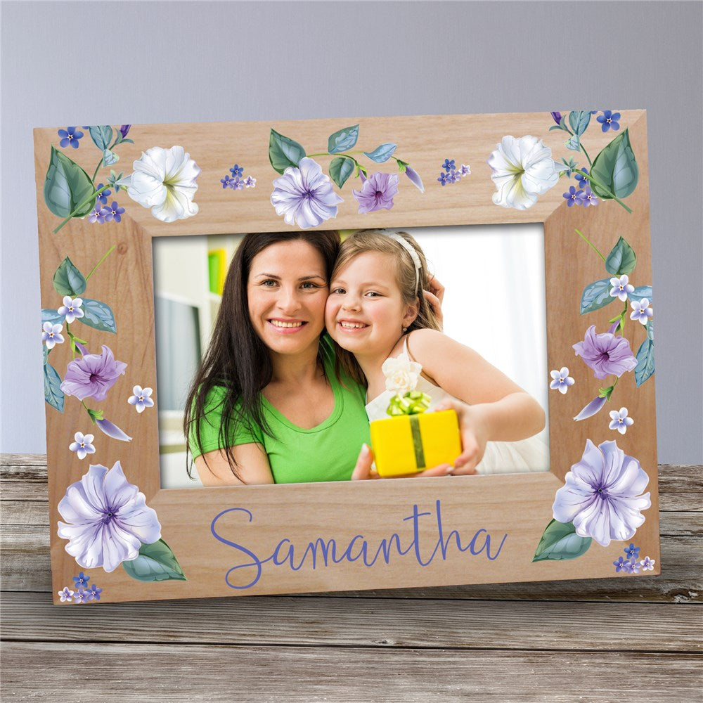 Personalized Petunias Wooden Frame