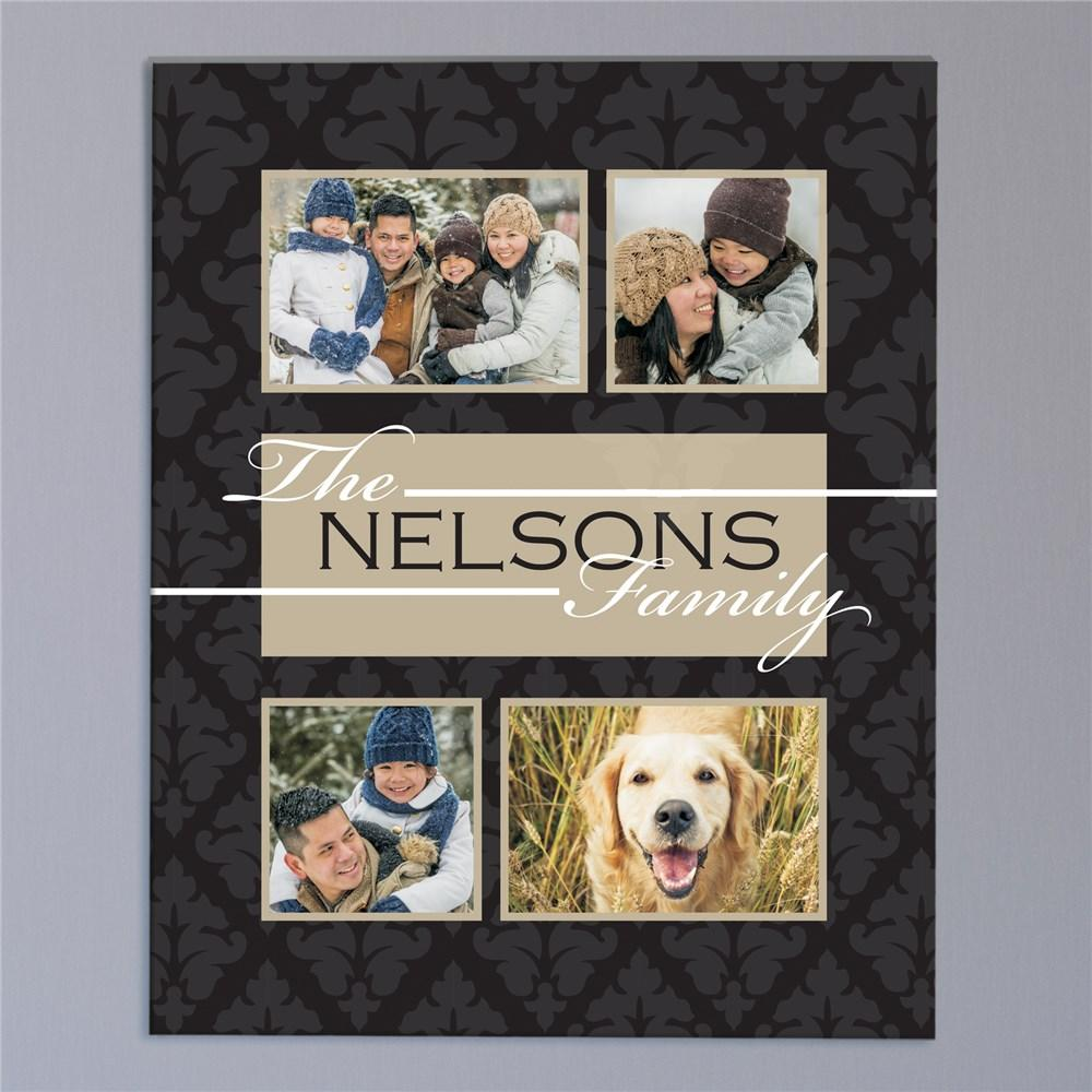 Personalized Family Collage Photo Wall Canvas