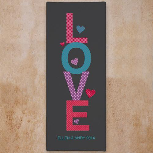 Personalized Love Wall Canvas - Valentine's Day Gift