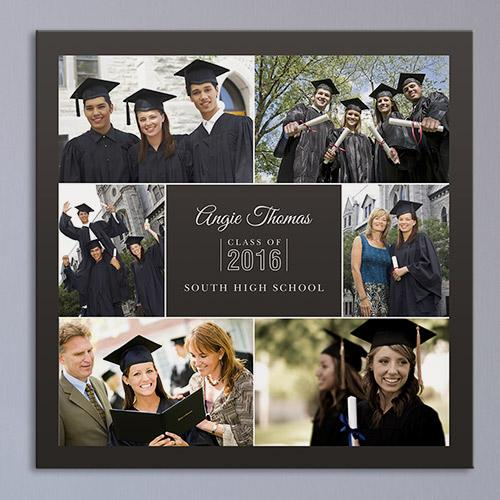 Personalized Graduation Photo Collage Canvas