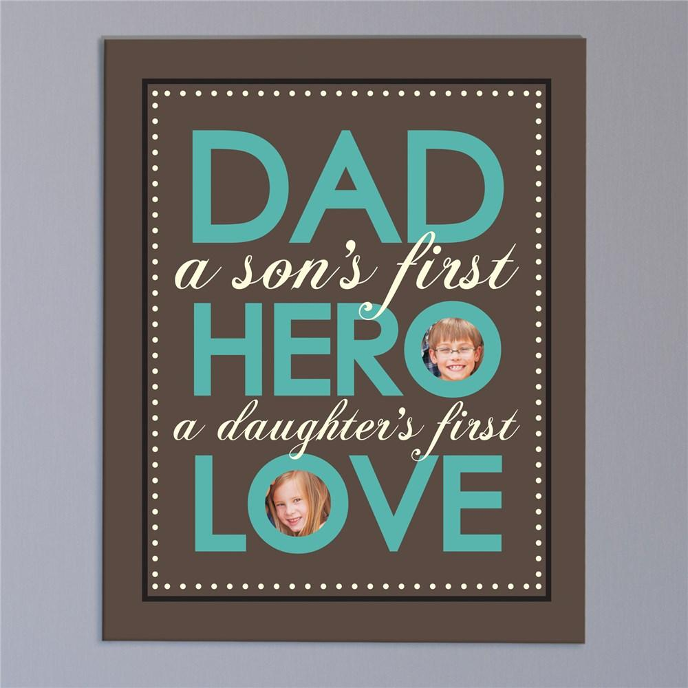 Personalized Dad - Hero - Love Photo Canvas
