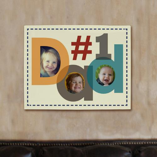 Personalized Number One Dad Photo Canvas