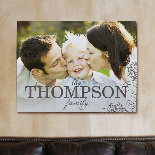 Personalized Family Name Photo Wall Canvas