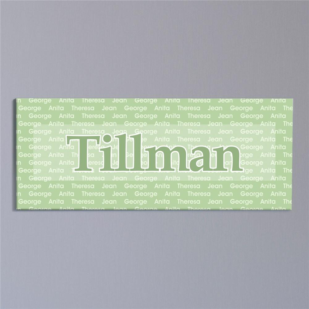 Personalized Family Name Wall Canvas