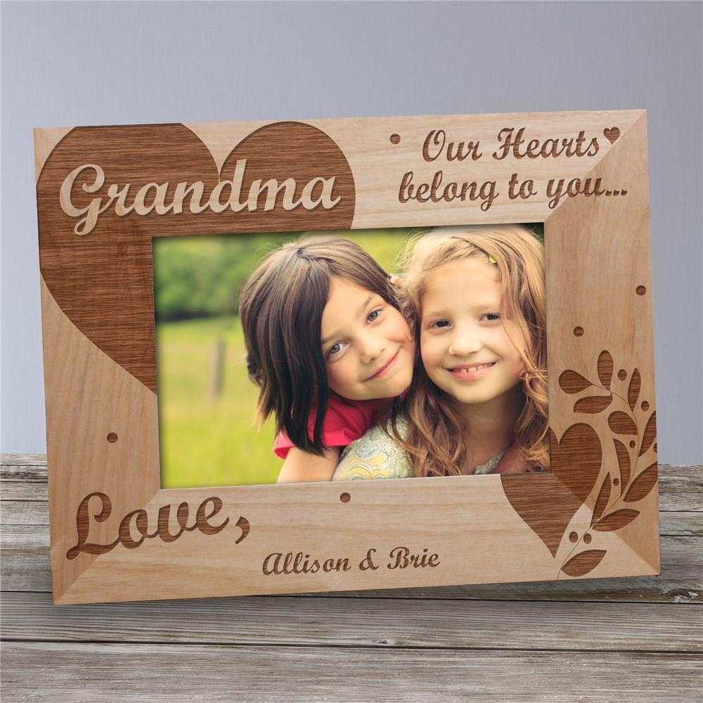 Personalized Our Hearts Belong To You Wood Picture Frame
