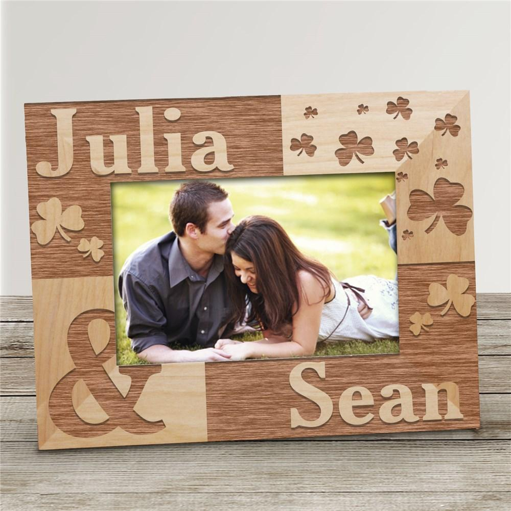 Personalized Just The Two Of Us Irish Wood Picture Frame - Valentine's Day Gift