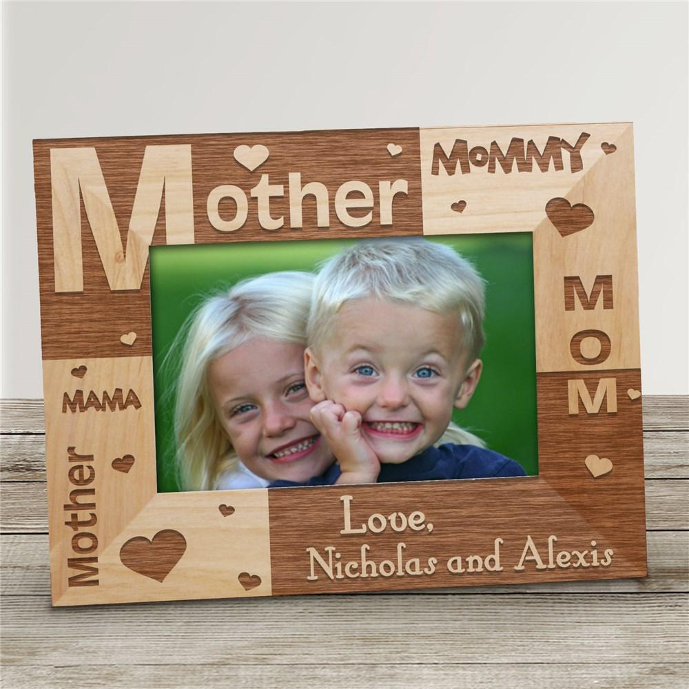 Personalized All About Mom Frame